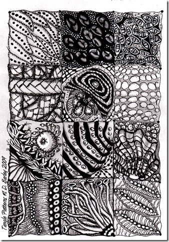 Tangle Patterns #1